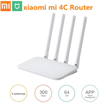 Xiaomi Mi WIFI Router 4C Roteador APP Control 64 RAM 802.11 b/g/n 2.4G 300Mbps Router 4 Antennas Router Wifi Repeater for MiHome 1