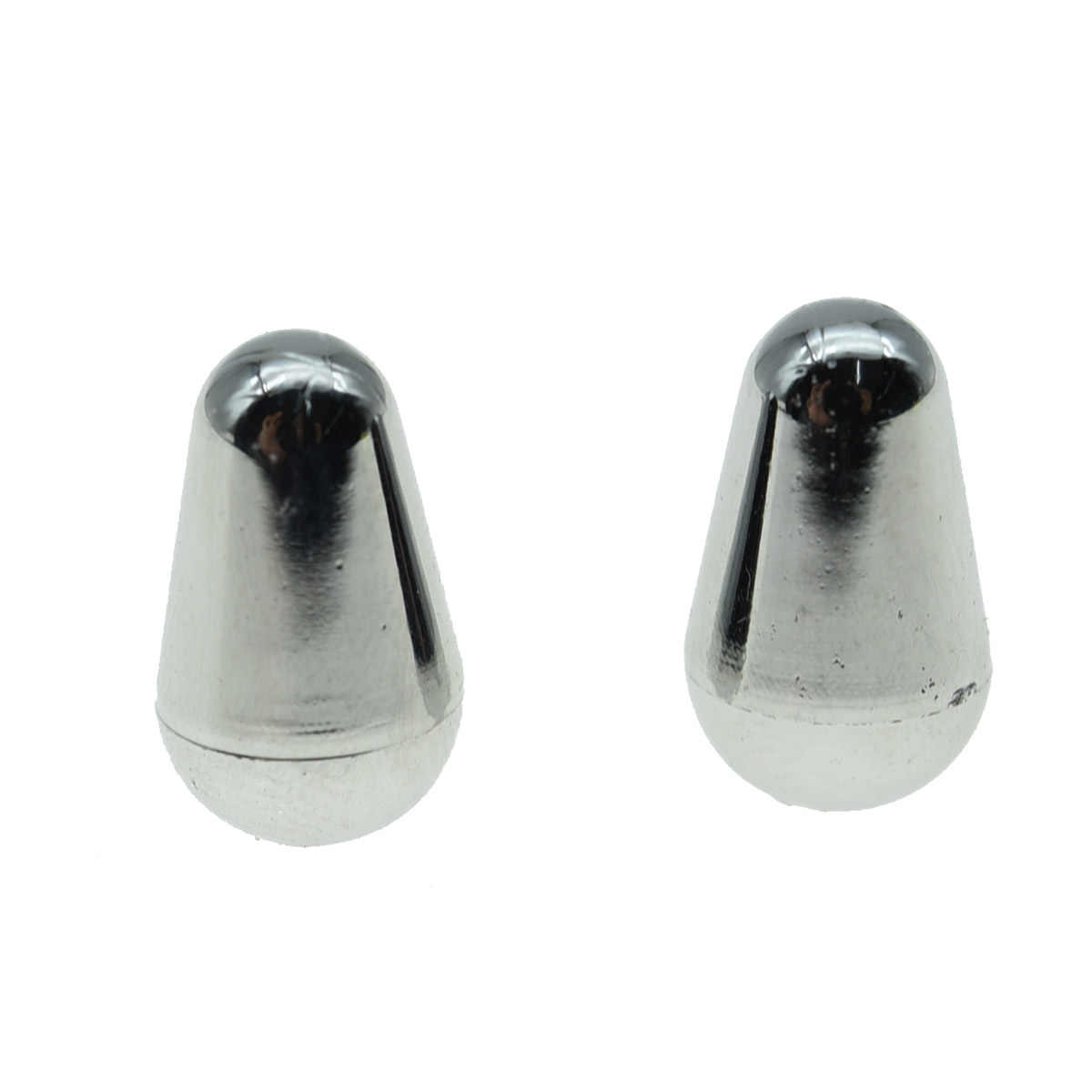 KAISH 2 Pcs Chrome Strat Guitar 5 Way Switch Tip Switch Knob Cap fits For USA Fender Strat