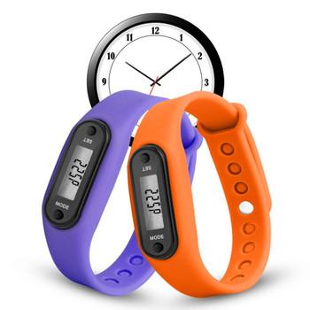 Nowy sport inteligentny zegarek na rękę wystawa bransoletek Fitness Gauge krok Tracker cyfrowy krokomierz LCD Run krok licznik straconych kalorii podczas chodzenia tanie i dobre opinie Funkcja obliczania kalorii SW8410104 2019 ABS+Silica gel approx 4 5 x 3 4 x 2 2cm 1x button cell step counter distance calorie calculation