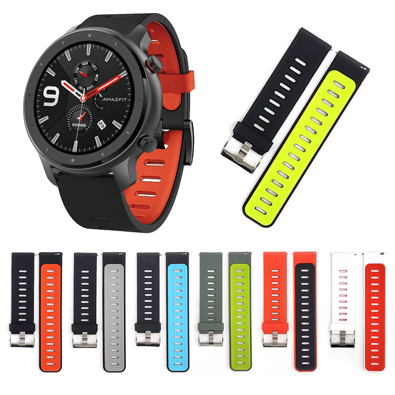 Wrist Band For Xiaomi Huami AMAZFIT GTR 47mm Strap Replacement Bracelets For AMAZFIT GTR 47 Watch Bands Silicone Watchband 22mm
