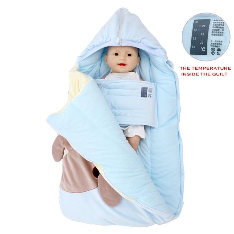 2019 Winter Newborn Sleeping Bag Baby Stroller Swaddle Wrap Blankets Warm Infant Bebe Sleep Sack Envelope Blanket  0-12Months