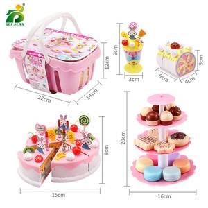 Image 5 - 147個子供のキッチンのおもちゃの少女ケーキ誕生日ミニチュア食品スタンドセットふり再生教育おもちゃ子供のギフト