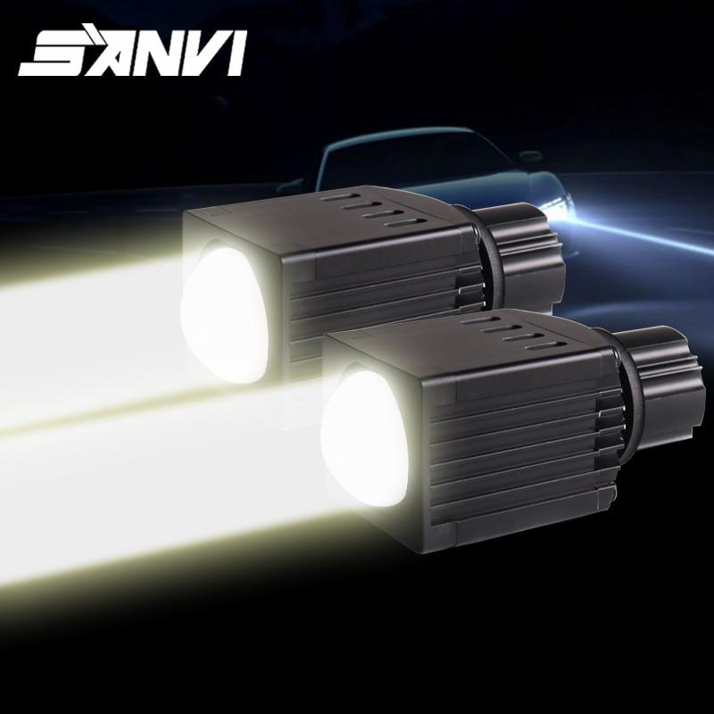 SANVI 2 шт. дальнего света светодиодный объектив проектора головной светильник 12V 12W 4600k матричный светодиодный светильник H7 9005 9006 туман светильник модифицированный автомобильный светильник «сделай сам»|Передние LED-фары для авто|   | АлиЭкспресс