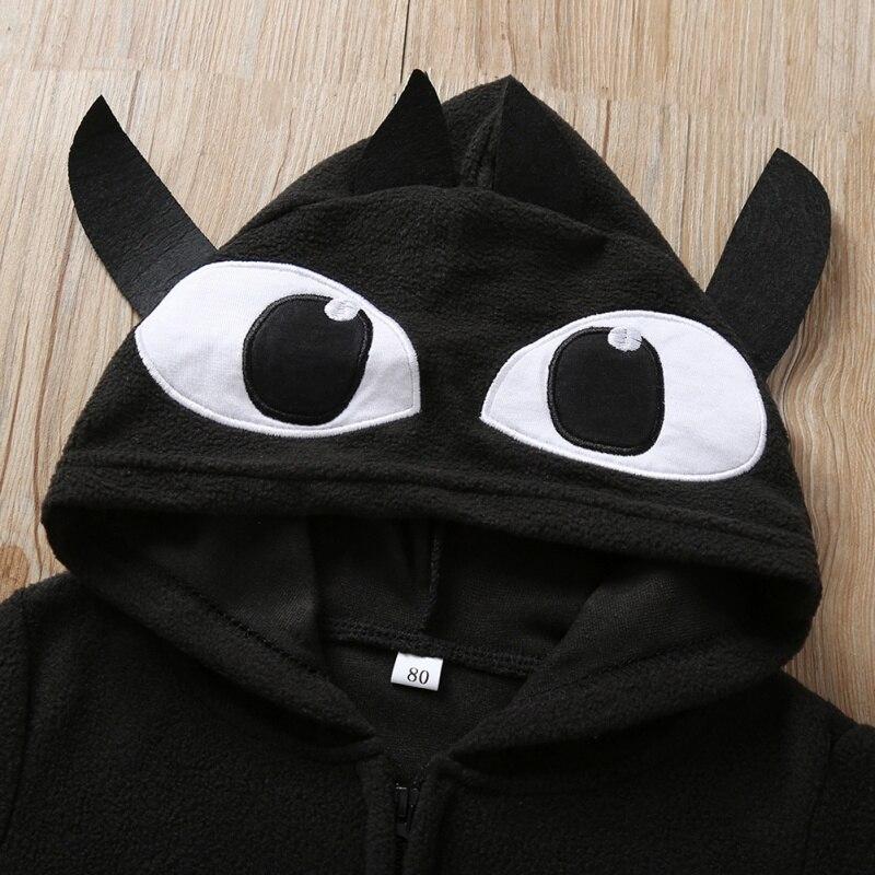 Baby Halloween Clothing Autumn Cartoon Print Bat Hooded Jacket Boy Girl Cotton Cosplay Clothes 3