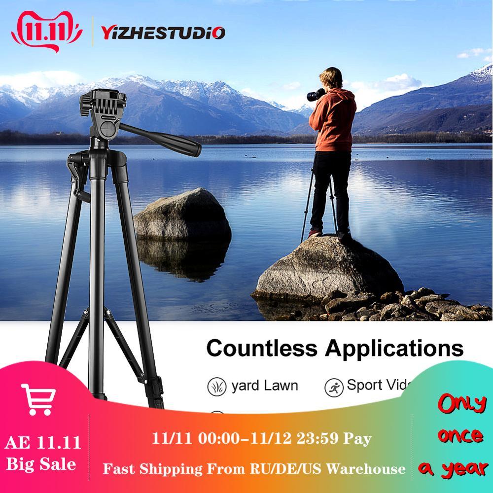 Yizhestudio Protable Camera Tripod for phone Canon Nikon Sony DSLR Camcorder 50-140 cm Universal Adjustable Stand