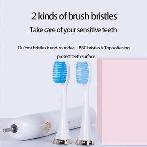 Image 5 - UBALUN השעיה מגנטי מברשת שיניים חשמליות סוניק מברשת שיניים נטענות אולטרסאונד שן מברשת 5 8 קבצים מצורפים