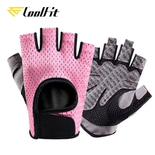 CoolFit Breathable Fitness Gloves Silicone Palm Hollow Back Gym Gloves Weightlifting Workout Dumbbell Crossfit Bodybuilding
