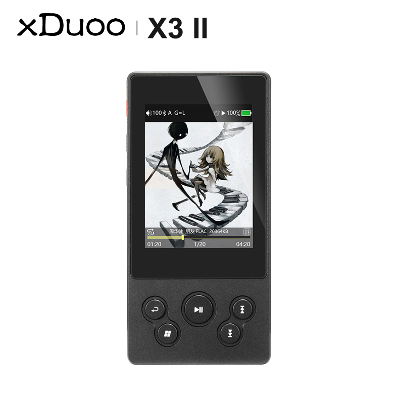XDUOO X3II X3 II AK4490 USB DAC Bluetooth Portable HD Lossless MP3/WAV/ FLAC Music Player DSD128 Hiby Link In-line Control