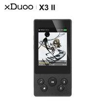 XDUOO X3II X3 II AK4490 USB DAC Bluetooth przenośny bezstratny odtwarzacz muzyczny MP3/WAV/ FLAC DSD128 Hiby Link sterowanie w linii