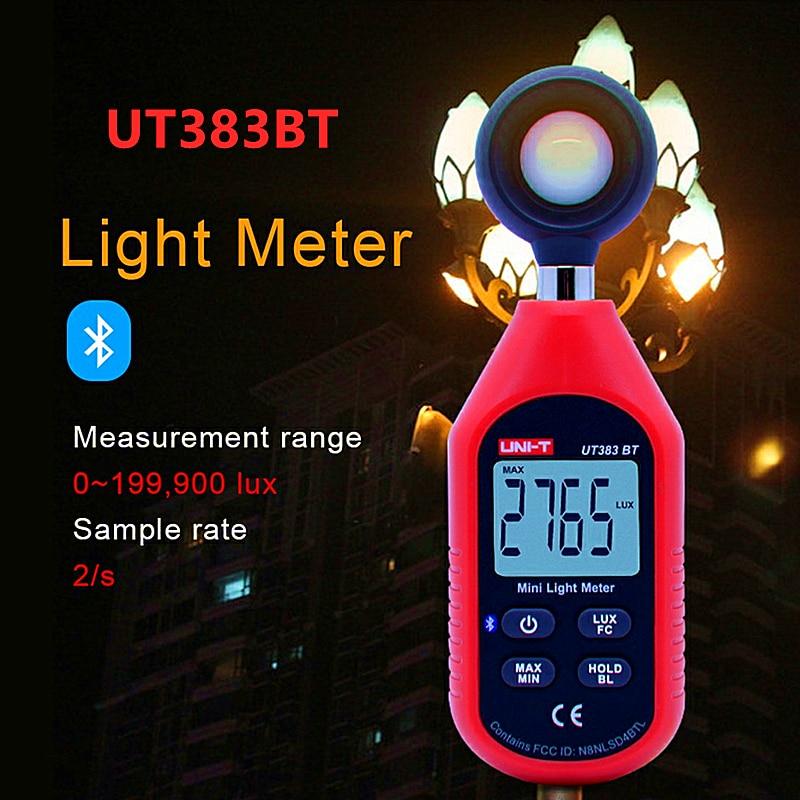 UNI-T UT383BT цифровой люксовый Bluetooth мини-светильник, измеритель окружающей среды, испытательное оборудование, ручной тип люксметр, фотометр