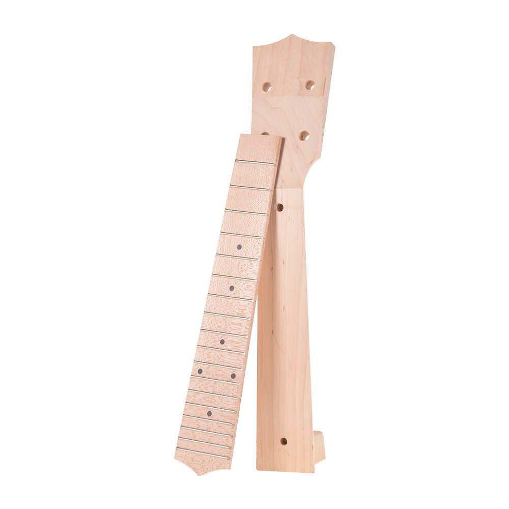24 インチウクレレカエデ材ネックと 18 フレット指板黒ドットインレイ弦楽器製作者ミニギター Diy パーツ