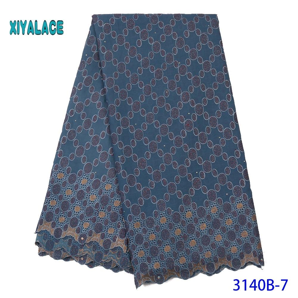 Lace Fabric Nigerian Lace Fabric 2019 High Quality Cotton African Lace Fabric French Lace Fabric Wedding Party Dress YA3140B-7