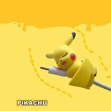 Аниме Покемон косплей реквизит Пикачу каваи силиканая гелевая кукла данных сетевой шнур протектор укусы анти-Break мобильный телефон зарядка через usb