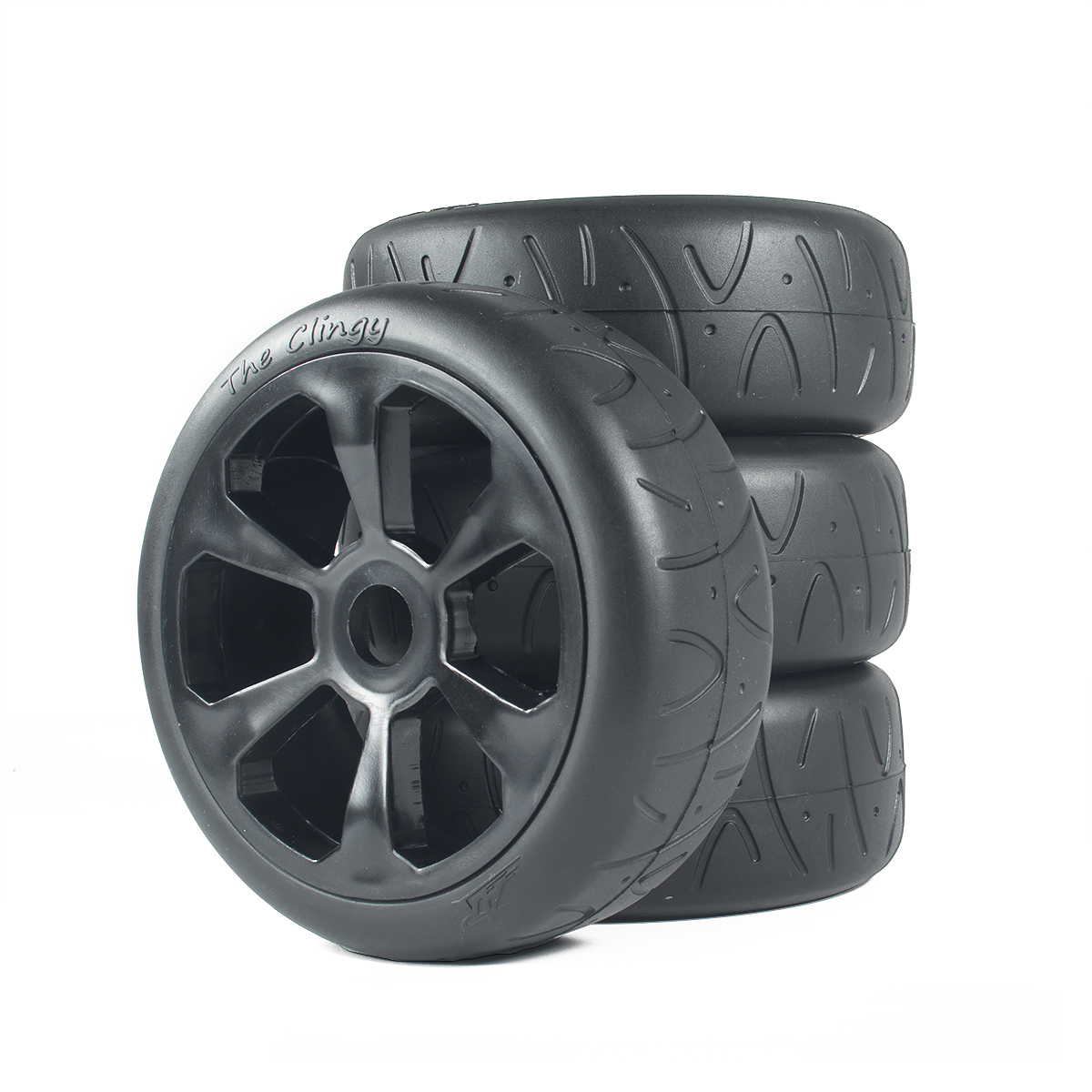 4Pcs RC 1/8 Scale On Road Hot Melt Rubber Tire & Wheel Rim Set 17mm Hex Wheels for 1:8 Hobao HSP HPI Kyosho RC Car Parts