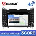Isudar H53 4G Android 2 Din Авто радио для Mercedes/Benz/Sprinter/W169/B200/B-class автомобильный мультимидийный навигатор 8 Core ram 4G rom 64G DVR