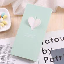 Love 3D Heart Greeting Cards With Envelope Laser Cut Post Card For Birthday Christmas Valentine' Day Party Wedding Decoration(China)