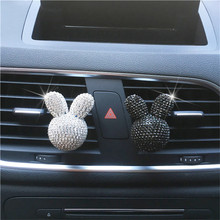 Perfume-Clip Air-Freshener Seven-Color Little Lady Decoration Vehicle Diamond Styling