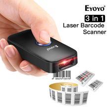 Eyoyo EY 009L 3 in 1 Bluetooth USB Wired & Wireless 1D Barcode Scanner Bar Code scaner Reader für mac Android iOS Tablet Computer