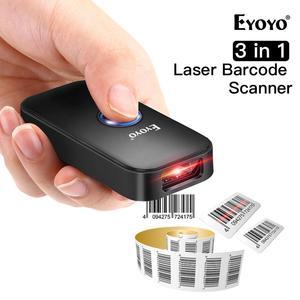 Image 1 - Eyoyo EY 009L 3 in 1 Bluetooth USB Wired & Wireless 1D Barcode Scanner Bar Code scaner Reader für mac Android iOS Tablet Computer