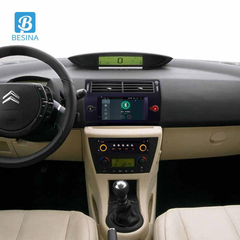 Besina アンドロイド 10.0 カー Dvd シトロエン C4 C-Triomphe で C-キャトル 2004-2009 マルチメディア GPS ステレオ 1Din 車ラジオ WIFI 2 グラム + 16 グラム