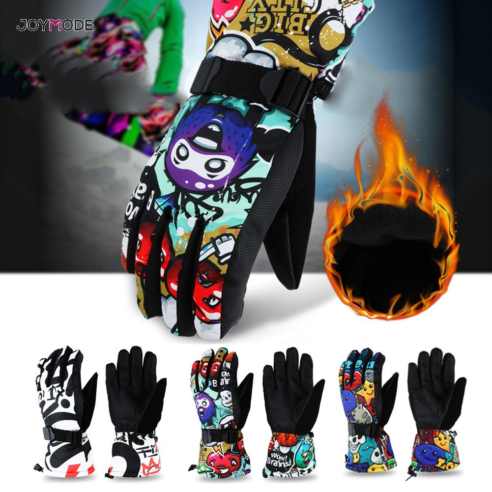 JOYMODE 2019 Men Women Kids Winter Warm Snowboarding Ski Gloves Snow Mittens Waterproof Cycling Skiing Snowmobile L XL