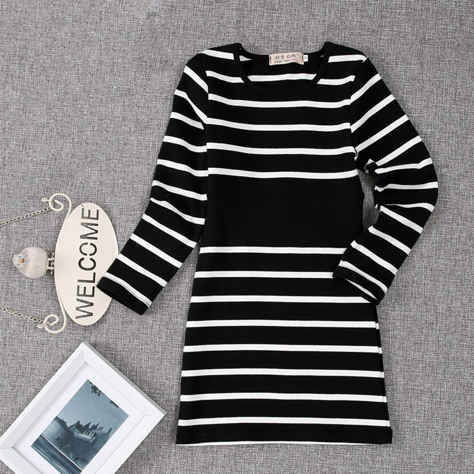 Kids Girls Dress Cotton Striped Long Sleeve Girls Clothing Spring Casual Children Girls Dress 4 6 7 8 9 10 11 12 13 14 Years 40 in Dresses from Mother Kids