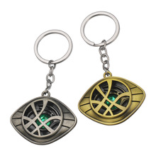 Movie Avengers Doctor Strange Alloy Crystal Keychain Time Stone Metal Car Key Chain Boy Bag Pendant Key Ring Gifts the avengers thanos gauntlet keychain movie infinite gloves stone metal car key chain man bag pendant key ring