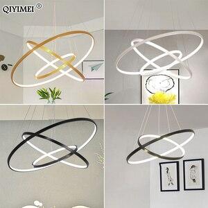 Image 4 - Lampe moderne suspendue avec cadre pendentif led lumières, éclairage en abat jour, luminaire dintérieur, idéal pour une cuisine, une salle à manger