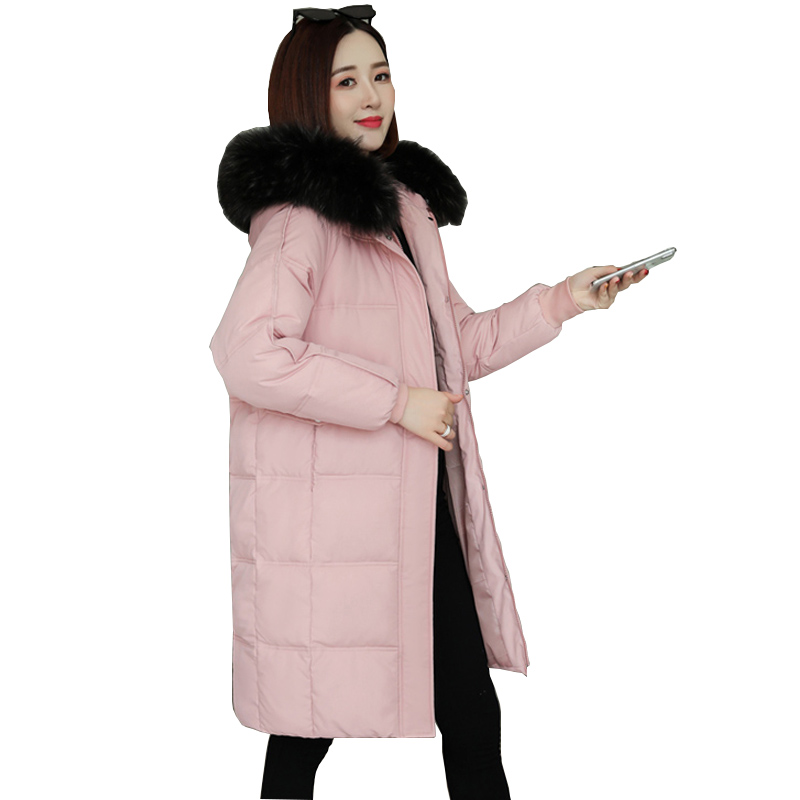 2019 Women Jacket Winter Snow Wear Parka Coat Thick  Warm Big Fur Collar Causal Hooded Parkas Jacket