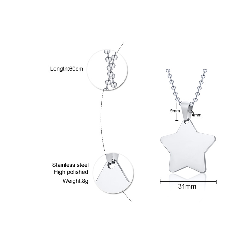 Customized Constellation Logo Necklace Women Men Stainless Steel Jewelry Personalize Gift