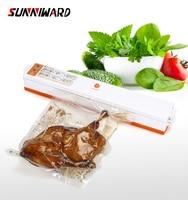 Sunniward 220v/110v Household Food Vacuum Sealer Packaging Machine Film Sealer Vacuum Packer Including 10pcs Bags|Vacuum Food Sealers| |  -