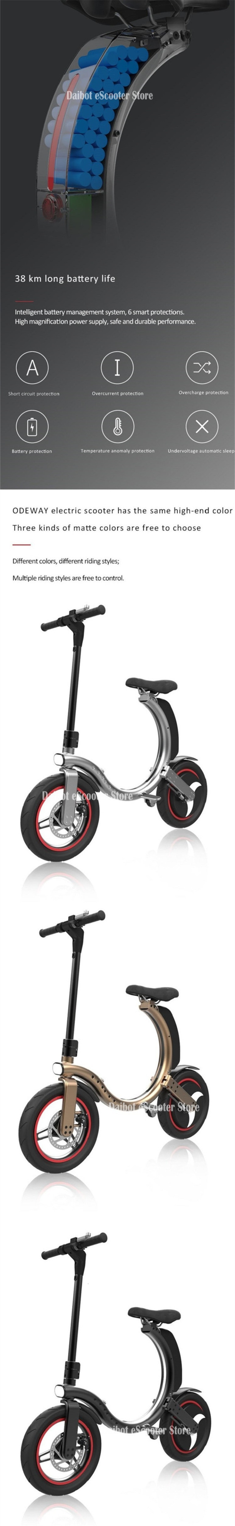 14 Inch Folding Electric Scooter 2 Wheel Electric Scooters 500W Portable Electic Bike with APP (8)