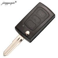 Jingyuqin 3 botões flip dobrável remoto chave caso escudo para great wall hover haval h3 h5 keyless entrada fob chave capa substituição|Chave do carro| |  -