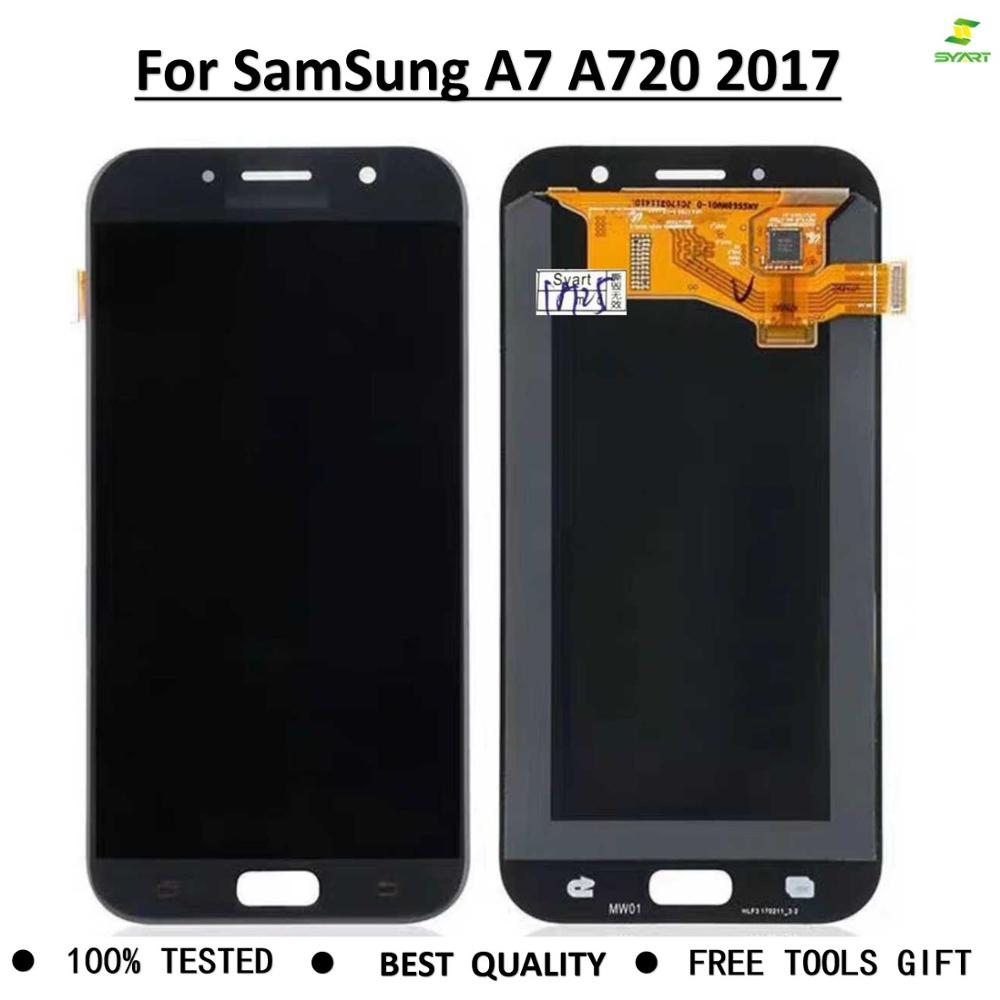 Display Screen Digitizer Replace for <font><b>Samsung</b></font> Galaxy <font><b>A720</b></font> 2017 A720F A720M SM-A720F <font><b>LCD</b></font> Touch assembly For Galaxy A7 2017 LCDS image