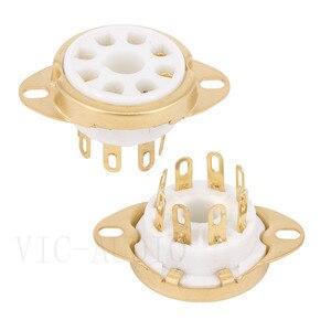 Image 3 - 10 sztuk 8Pins Big otwór rury gniazdo podstawa ceramiczna dla KT88 KT66 EL34 6SN7 GZ34 5881 6V6 5U4G 6550C wzmacniacz lampy elektronowej Audio HIFI