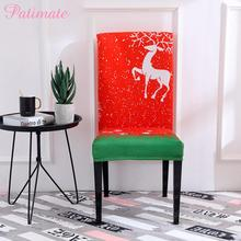 PATIMATE Christmas Chair Cover Decorations For Home Merry Ornaments 2019 Xmas Navidad Decor New Year 2020