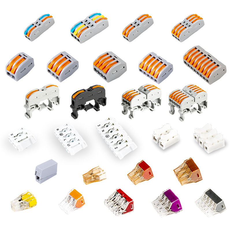 PO Series Terminals Used On Luminaires  Compact Wiring Conductor Terminal Block With Lever PCT Series Wire Connector