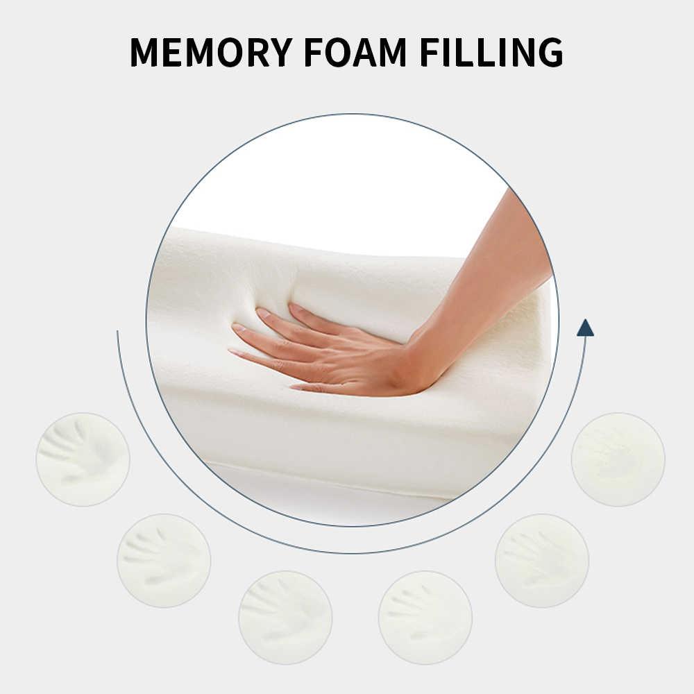 انتعاش بطيء رغوة الذاكرة الفراش وسادة الرقبة حماية رغوة الذاكرة وسادة الصحة عنق الرحم حجم في 50*30 سنتيمتر