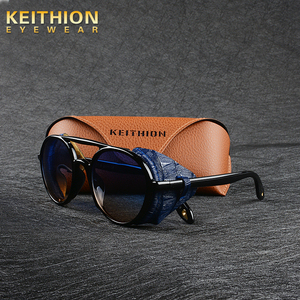 Image 1 - KEITHION מותג עיצוב Steampunk עגול משקפי שמש אופנה נשים גברים משקפיים שמש רטרו Goggle UV400 גווני Eyewear 9757