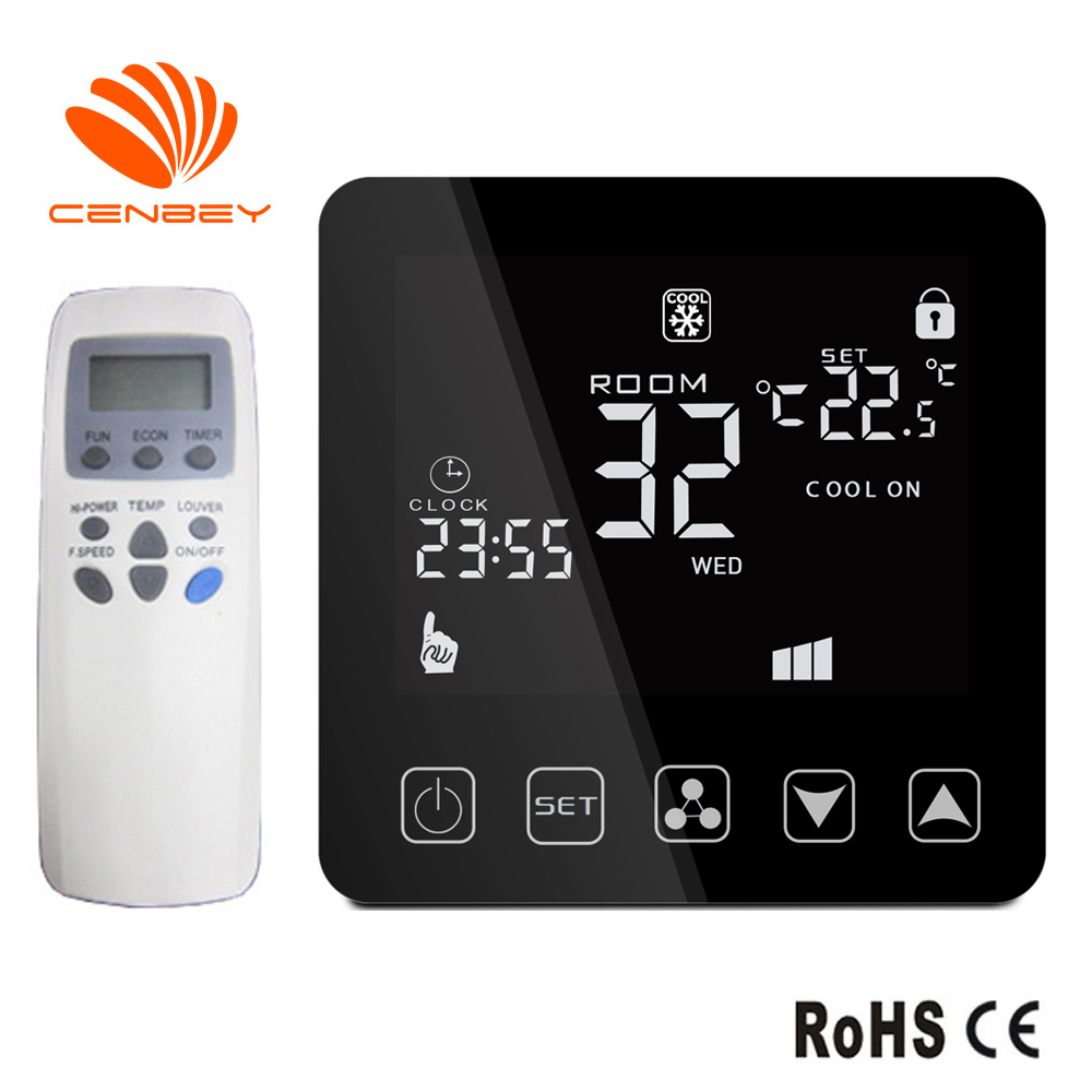 Air Conditioning Thermostat Three Speed Remote Control Switch Wifi Smart Thermostat Fan Coil Unit Room Temperature Controller