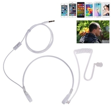 아이폰 안드로이드 19qa에 대한 3.5mm 목구멍 마이크 헤드셋 은밀한 음향 튜브 fbi 이어폰