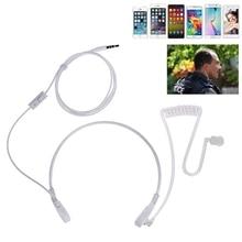 3.5mm Throat MIC Headset Covert Acoustic Tube FBI Earphone for iPhone Android 19QA