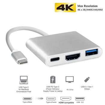 Thunderbolt 3 Adapter USB Type C Hub HDMI-compatible 4K support Samsung Dex mode USB-C Dock with PD for MacBook Pro/Air 2021 1