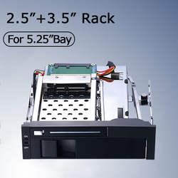 5,25 дюймов внутренний hot plug hdd mobile rack для Оптический bay Поддержка 2,5 дюймов + 3,5 дюймов HDD без USB3.0 порт