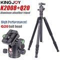 KINGJOY Offizielle K2008 + Q20 Stativ Kamera Profesional Aluminium Kutteln Stehen Für Alle Modelle Digital SLR DSLR Halter Stativ Mobile-in Live-Stative aus Verbraucherelektronik bei