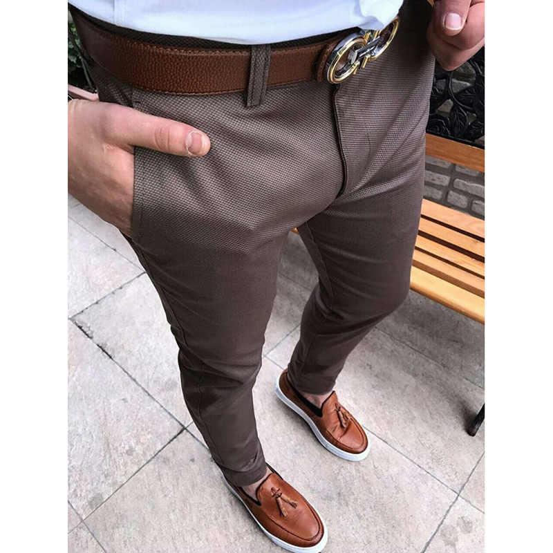 Pantalones Ajustados De Moda Para Hombre Pantalon Occidental De Color Solido Juvenil Pantalones De 9 Puntos Pantalones Informales De Negocios De Pies Pequenos 2019 Pantalones De Traje Aliexpress