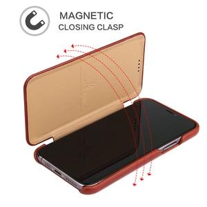 Image 4 - 아이폰 11 12 프로 맥스 정품 가죽 플립 케이스 아이폰 6 6S 7 8 X Xs XR XS 최대 SE 2020 자석 커버