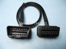 75CM Flat Thin As Noodle Cable OBD OBD2 OBDII 16Pin Male to Female Diagnostic Tool Extension Connector Cables