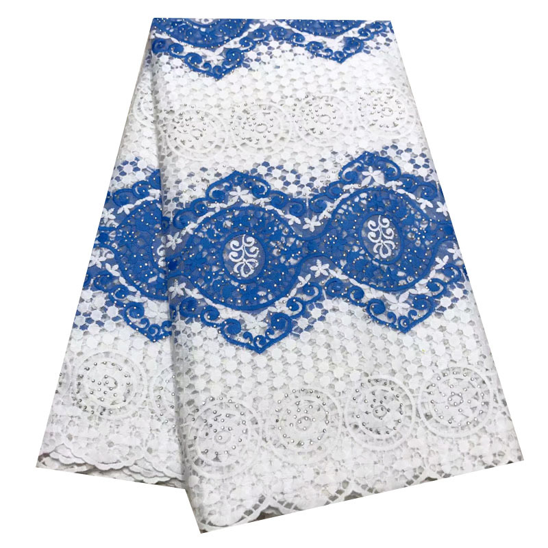 Best Selling Beads French Swiss Tulle Voile Lace Fabric DIY African Nigerian Net Guipure Lace Fabrics For Women Clothing