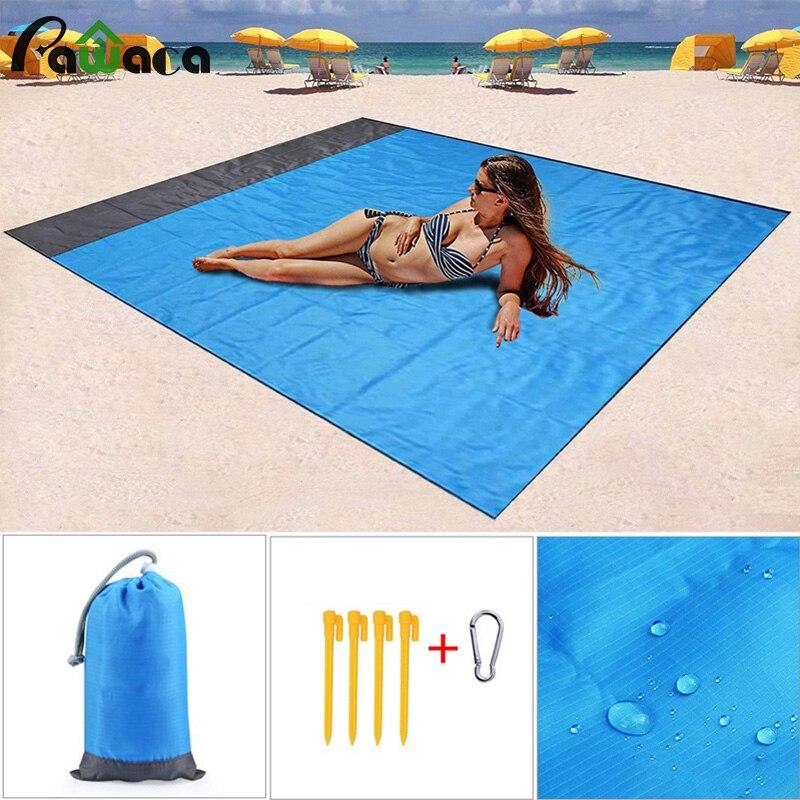 140*200cm Waterproof Picnic Blanket Rug Travel Camping Beach Mat Set Outdoor